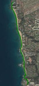 Keawakapu beach GPS trail
